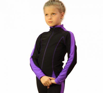 термокомплект бреккет черный с фиолетовым боковой передний вид главная