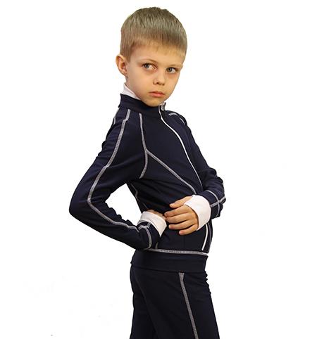 термокомплект тодес мальчик серо-синий боковой задний вид главная
