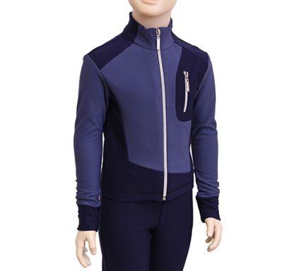 термокомплек 034  на мальчика серо-голубой темный с темно-синим  вид спереди главная