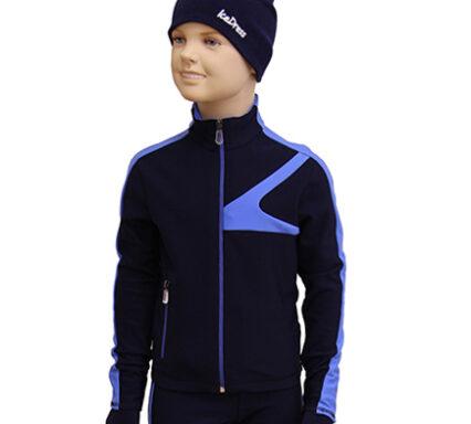 термокомплек 042  на мальчика темно-синий с голубым боковой передний вид главная