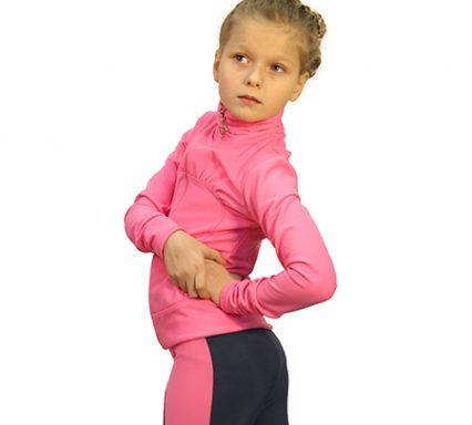 термокуртка драпировка 3 розовый с лосинами 037  задний вид главная