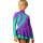 термоплатье керриган фиолетовое с мятным боковой передний вид главная