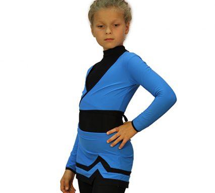 боди+лосины+юбка-лайнголубая с черным+ болеро голубое+чехлы боковой передний вид главная