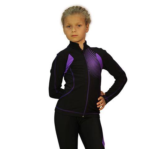 термокомплект ойлер черный с фиолетовым  передний вид главная