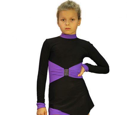 термоплатье бауэр черный с фиолетовым передний вид главная