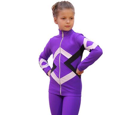 термокомплект бауэр фиолетовый черный белый  передний вид