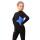 термокомплект звезды черный с голубым боковой передний вид