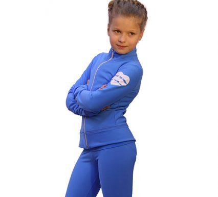 термокомплект hearts с брюками голубой с белым боковой вид