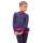 тембинезон с юбочкой серо-голубой темный с фуксией  боковой передний вид