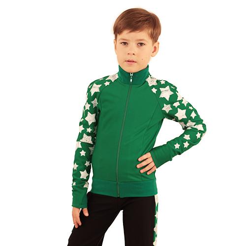 термокомплект звездный на мальчика зеленый с черным передний вид