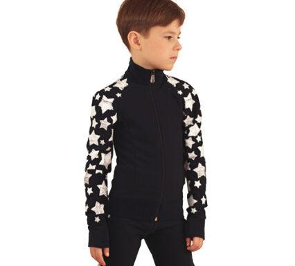 термокомплект звездный на мальчика черный передний вид