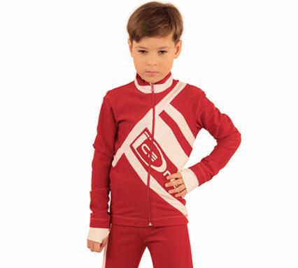 термокомплект Icedress на мальчика красный с белым  передний вид
