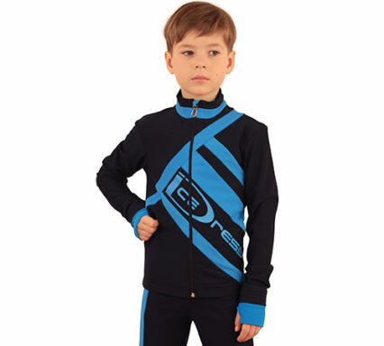термокомплект Icedress на мальчика черный с голубым  передний вид