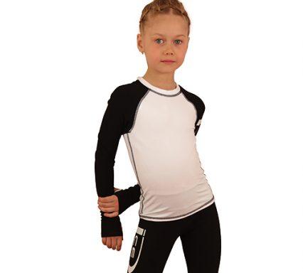 лонгслив+лосины IceDress белый с черным  передний вид2