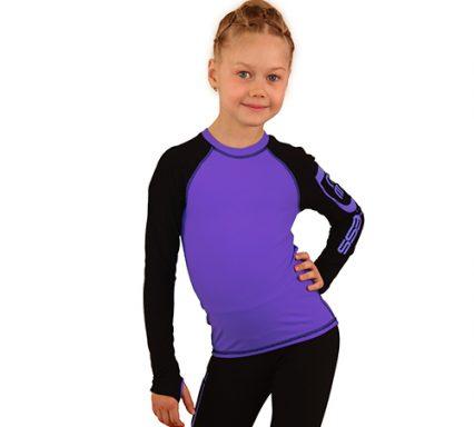 лонгслив+лосины IceDress фиолетовый с черным  передний вид2
