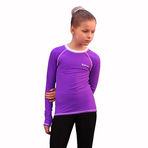 лонгслив фиолетовый с белым передний вид
