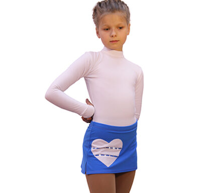 юбка hearts голубая с белым сердечком