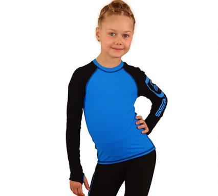 лонгслив+лосины IceDress голубой с черным  передний вид2