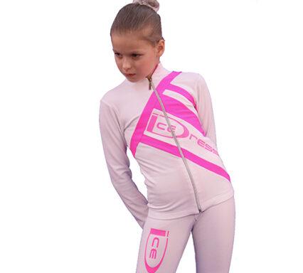 термокомплект Icedress белый с ярко-розовым передний вид