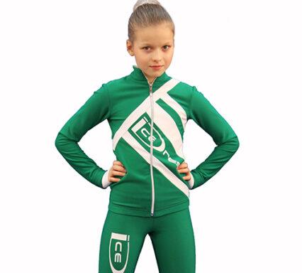 термокомплект Icedress зеленый с белым  передний вид