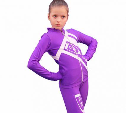 термокомплект Icedress фиолетовый с белым  передний вид