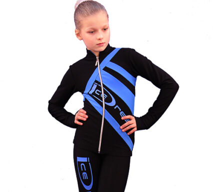 термокомплект Icedress черный с голубым  передний вид