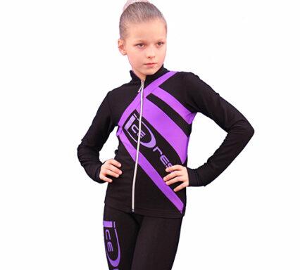 термокомплект Icedress черный с фиолетовым  передний вид