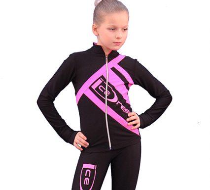 термокомплект Icedress черный с ярко-розовым передний вид
