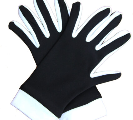 перчатки двухцветные черный+белый