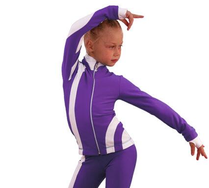 термокомплект Кросс-Ролл фиолетовый с белым боковой передний вид