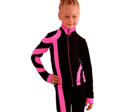 термокомплект Кросс-Ролл черный с ярко-розовым передний вид
