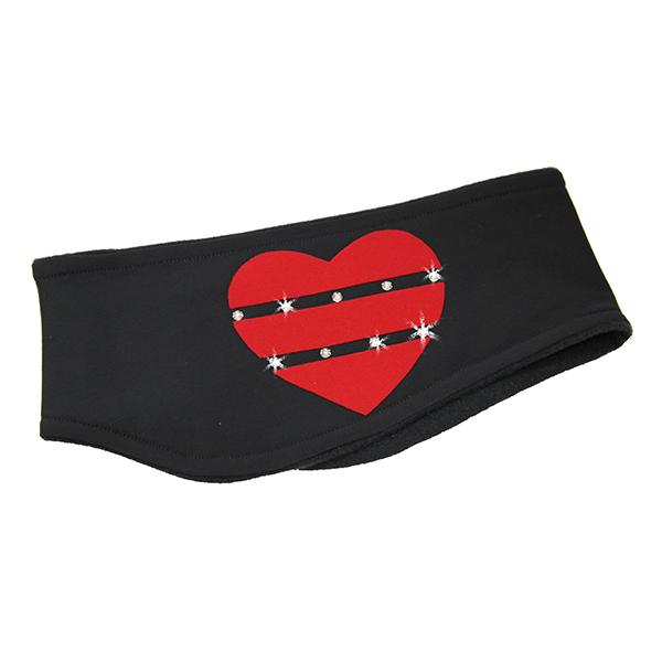 Термоповязка Heart темно-серая с красным