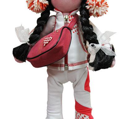 кукла в костюме ойлер белый с коралловым
