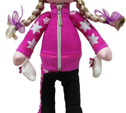кукла в костюме снежинки фуксия