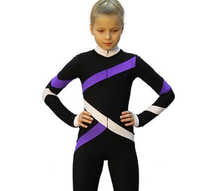 тембинезон квад черный с фиолетовым передний вид