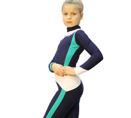 тембинезон skating серо-синий темный с мятным боковой  вид