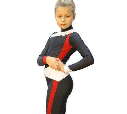 тембинезон skating темно-серый с красным боковой  вид