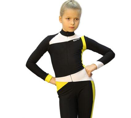 тембинезон skating черный с желтым передний вид