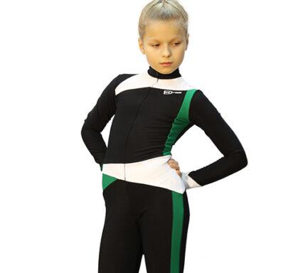 тембинезон skating черный с зеленым передний вид