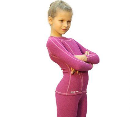 термобелье розовый меланж боковой передний вид аватарка