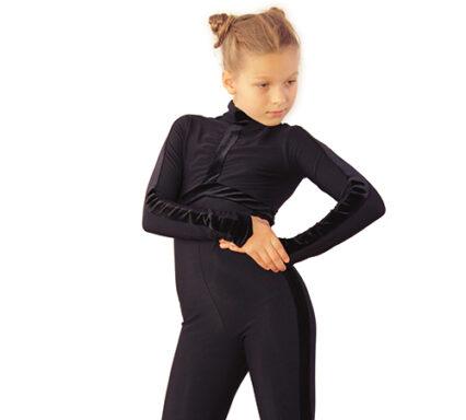 термокомбинезон Sport Style черный с бархатом боковой  передний вид