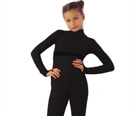 термокомбинезон style черный с бархатом передний вид