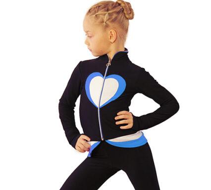 термокомплект Тути-Фрутти черный+белый+голубой боковой передний вид