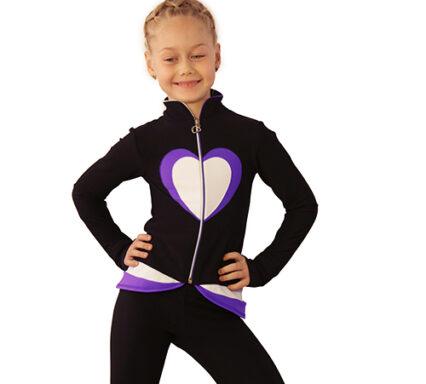 термокомплект Тути-Фрутти черный+белый+фиолетовый вид спереди