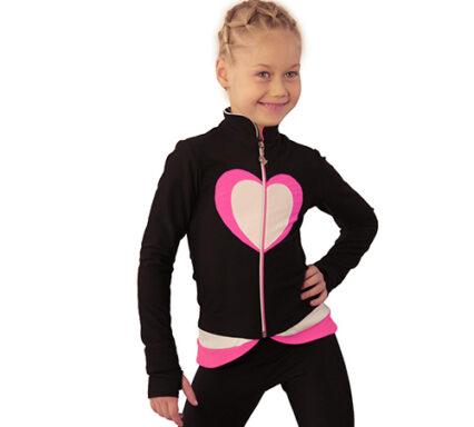 термокомплект Тути-Фрутти черный+белый+ярко-розовый вид спереди2