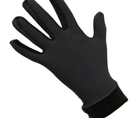 термоперчатки с бархатом черные