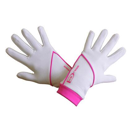 термоперчатки IceDress белые с ярко-розовым