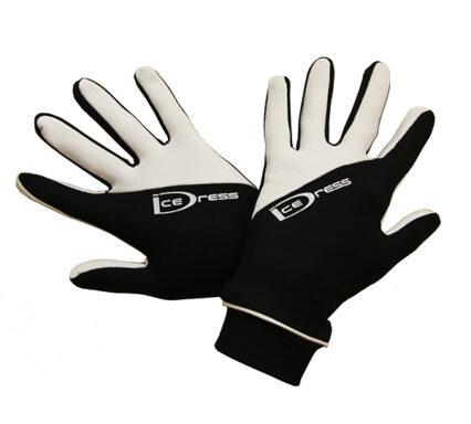 термоперчатки IceDress двухцветные черные с белым2