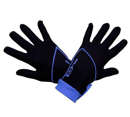 термоперчатки IceDress черные с голубым2