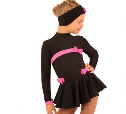 термоплатье бантики+повязка+чехлы черный с ярко-розовым передний вид2